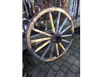 Antique large wood wooden cart wheel garden ornament wedding display prop