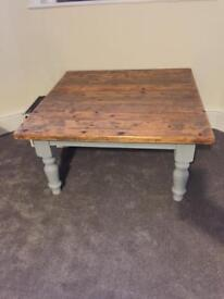 Solid pine coffee table
