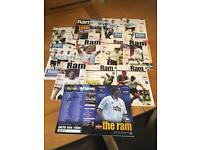 Collectible Derby county programmes