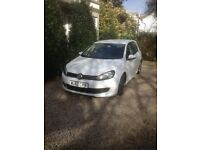 VW Golf 1.6 Tdi BlueMotion 2012 White Excellent Condition 56000 miles. £0 Road Tax