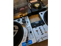 DJ Equipment: 2x Vinyl, 2x CD Decks, Mixer, DJ Headphones and Microphone