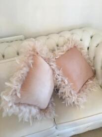 Zara home Nude Cushions