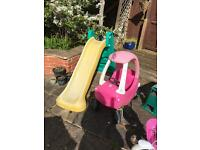 Little tikes car and slide £25