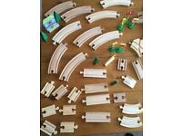 HUGE JOB LOT - 90 Piece wooden Train Track and Accessories