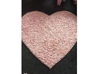 Heart rug from next