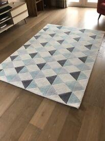 Rug - NORDIC low pile rug in blue