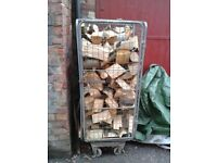 Very Large Cage Of Hardwood Logs.