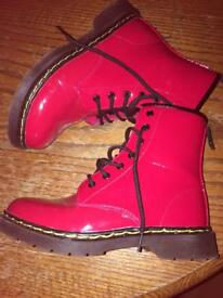 Red boots size 3