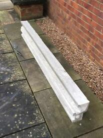 Concrete end fence posts