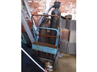 Extra Large Welding Compressed Gas & Acetylene Bottles with Barrow.