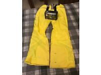 Men'mens ski trousers salopettes and goggles ski bundle