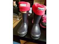 Hunter wellies boots kids