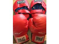 Junior boxing gloves and pads