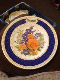 "1988 Chelsea flower show plate ""Chelsea anniversary """