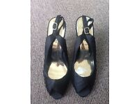 Black heels, not worn, size 7, new look