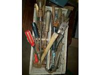Heavy box of old quality tools