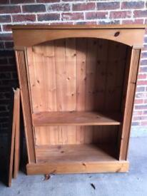 Solid pine bookshelf 3 tier