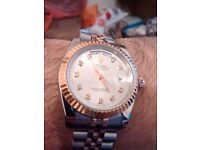 SWISS ROLEX DAY DATE SMART TWO TONE ROSE GOLD
