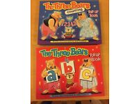 REDUCED PRICE | 2 Childrens' Books | The Three Bears Pop-Up Books | ABC & Counting
