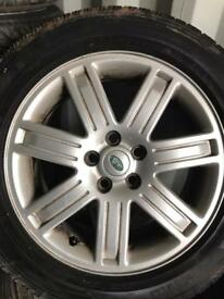 "Set of Range Rover vogue 19"" alloys tyres T5 discovery Pirelli tyres"