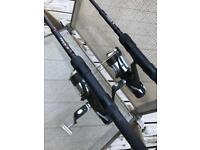 Nash h gun dwarf rods x2 plus 2 Nash outlaw bait runners
