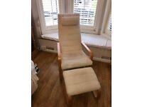 Armchair with Stool (IKEA)