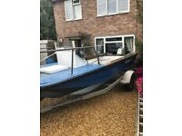 17 ft open boat with 45 hp Honda 4 stroke