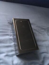 Apple iPhone 7 plus 256gb Jet Black New