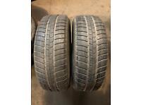 2 Tyres 205 60 16(92H) Michelin Pilot Alpin M+S ❄️ Between 5mm-6mm