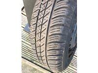New Michelin tyre on a steel wheel