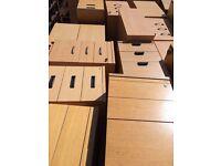 Wood Effect Pedestal Filing Cabinet Office Storage Desk Height