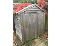 "Wooden shed 6ft 2"" x 4ft x 6ft 9"""