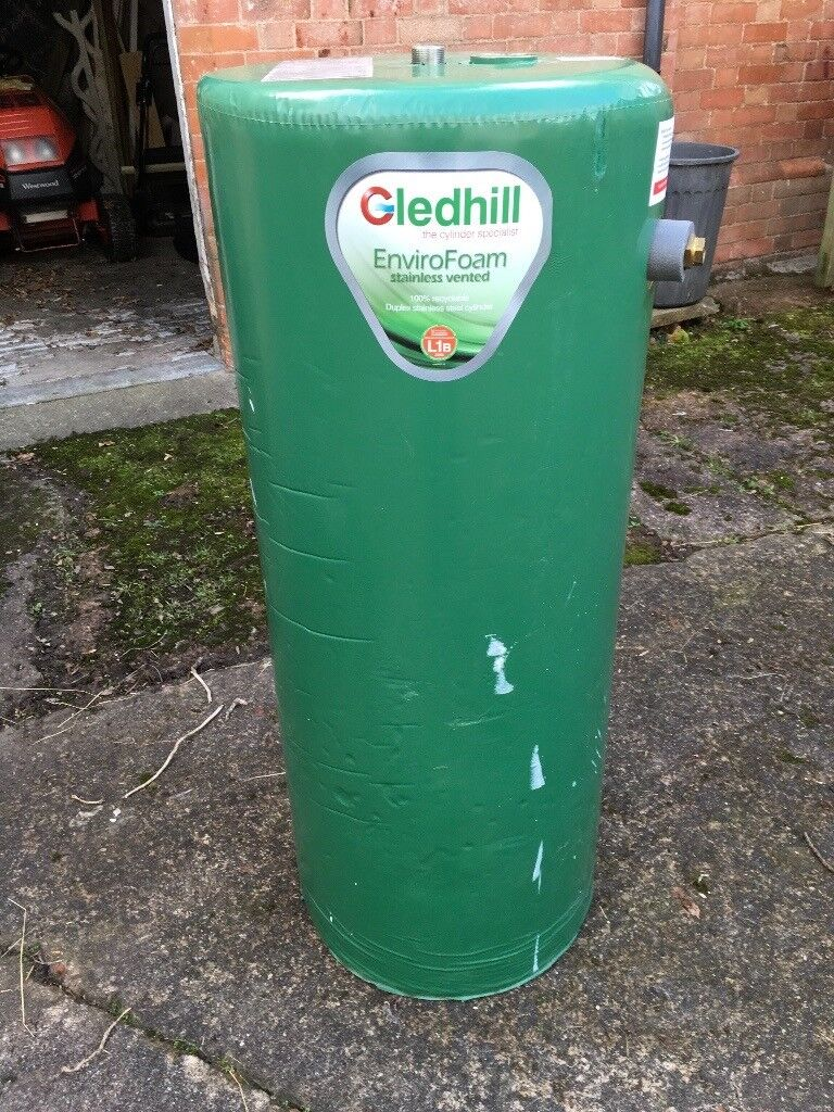 Gledhill SE48X18 hot water tank stainless steel 162l hot water tank ...