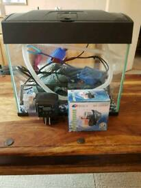 Fish tank with all accessories 20L