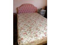 Double bed with storage drawers, mattress and headboard