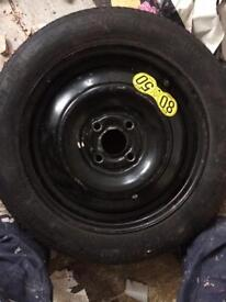 Space saver wheel new tyre