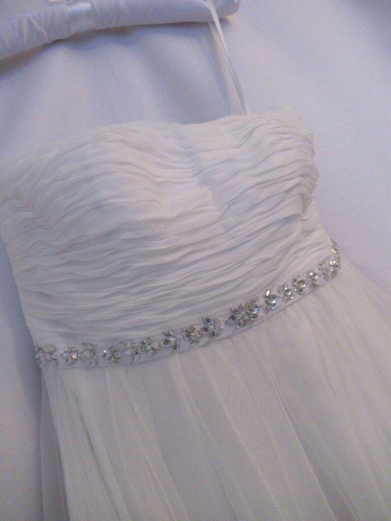 3acc6adf7cecb NEW MONSOON Klara Embellished Tulle   Satin Ivory Bridal Dress UK12 MRRP  £349.00