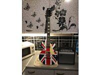 Union Jack les Paul style electric guitar and amp £100 cash