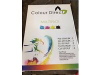 Colour Direct Ink Cartridge Replacement For Canon PGI-550 (*2)