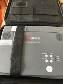 3M MP8749 Portable Projector with Accessories.