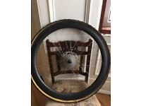 Carbon tubular cyclocross wheel set.