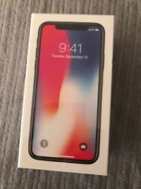 iPhone X, 64GB, Space Grey, Unopened.