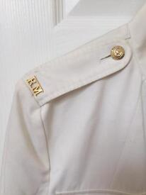 Genuine Royal Marines Whites and old type ceremonial cape