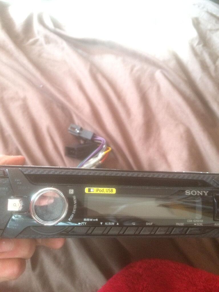 Sony 55Wx4 CD AUX USB Car Radio New