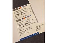 Craig David tickets X2 LESS THAN FACE VALUE!