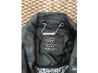 Ladies zara leather jacket S-M