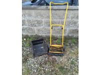 Push mower with collection box