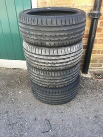 Nearly new 215/35/18 tyres