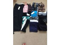 ladies clothes large 16 to 18 to small 20 few sandals, M & S foot glove and Clarks