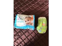 Nappies size 3 and swimming nappies 2-3